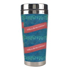 Valentine Day Pattern Stainless Steel Travel Tumblers by dflcprints