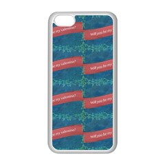 Valentine Day Pattern Apple Iphone 5c Seamless Case (white) by dflcprints