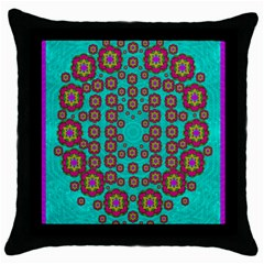 The Worlds Most Beautiful Flower Shower On The Sky Throw Pillow Case (black) by pepitasart