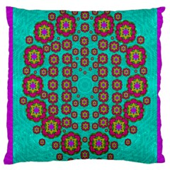The Worlds Most Beautiful Flower Shower On The Sky Large Cushion Case (one Side) by pepitasart