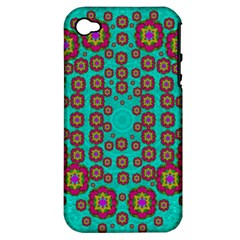 The Worlds Most Beautiful Flower Shower On The Sky Apple Iphone 4/4s Hardshell Case (pc+silicone) by pepitasart