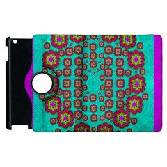 The Worlds Most Beautiful Flower Shower On The Sky Apple Ipad 3/4 Flip 360 Case by pepitasart