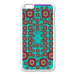 The Worlds Most Beautiful Flower Shower On The Sky Apple Iphone 6 Plus/6s Plus Enamel White Case by pepitasart