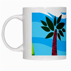 Landscape Background Nature Sky White Mugs