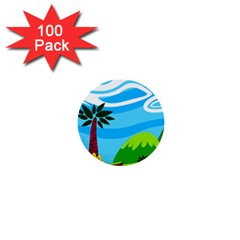 Landscape Background Nature Sky 1  Mini Buttons (100 Pack)