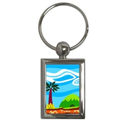 Landscape Background Nature Sky Key Chains (rectangle)