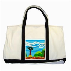 Landscape Background Nature Sky Two Tone Tote Bag