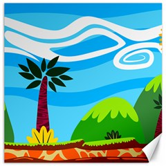 Landscape Background Nature Sky Canvas 12  X 12