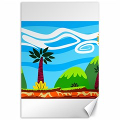 Landscape Background Nature Sky Canvas 24  X 36