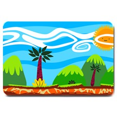 Landscape Background Nature Sky Large Doormat  by Nexatart