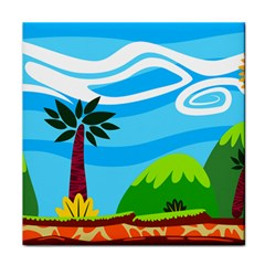 Landscape Background Nature Sky Face Towel