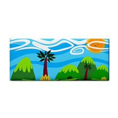 Landscape Background Nature Sky Cosmetic Storage Cases