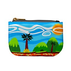 Landscape Background Nature Sky Mini Coin Purses