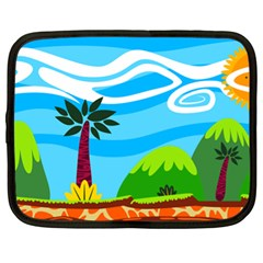 Landscape Background Nature Sky Netbook Case (xl)