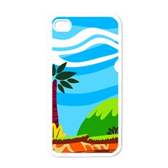 Landscape Background Nature Sky Apple Iphone 4 Case (white)