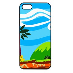 Landscape Background Nature Sky Apple Iphone 5 Seamless Case (black)