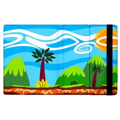 Landscape Background Nature Sky Apple Ipad 3/4 Flip Case