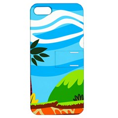 Landscape Background Nature Sky Apple Iphone 5 Hardshell Case With Stand