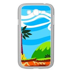 Landscape Background Nature Sky Samsung Galaxy Grand Duos I9082 Case (white)