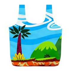 Landscape Background Nature Sky Full Print Recycle Bags (l)