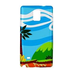 Landscape Background Nature Sky Samsung Galaxy Note 4 Hardshell Case