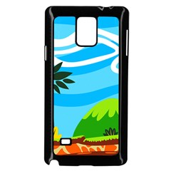 Landscape Background Nature Sky Samsung Galaxy Note 4 Case (black)