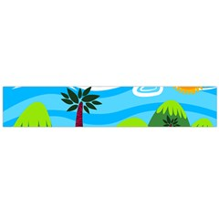 Landscape Background Nature Sky Large Flano Scarf