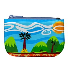 Landscape Background Nature Sky Large Coin Purse by Nexatart