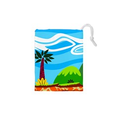 Landscape Background Nature Sky Drawstring Pouches (xs)