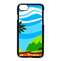 Landscape Background Nature Sky Apple Iphone 8 Seamless Case (black)
