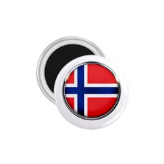 Norway Country Nation Blue Symbol 1 75  Magnets by Nexatart