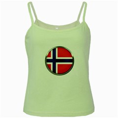 Norway Country Nation Blue Symbol Green Spaghetti Tank