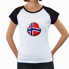Norway Country Nation Blue Symbol Women s Cap Sleeve T