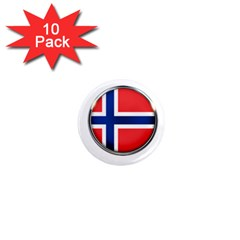 Norway Country Nation Blue Symbol 1  Mini Magnet (10 Pack)
