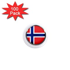 Norway Country Nation Blue Symbol 1  Mini Magnets (100 Pack)  by Nexatart