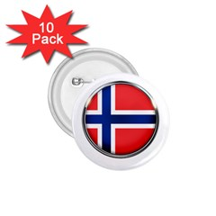 Norway Country Nation Blue Symbol 1 75  Buttons (10 Pack) by Nexatart