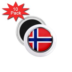 Norway Country Nation Blue Symbol 1 75  Magnets (10 Pack)  by Nexatart