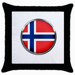Norway Country Nation Blue Symbol Throw Pillow Case (black)