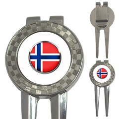 Norway Country Nation Blue Symbol 3 In 1 Golf Divots
