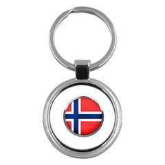 Norway Country Nation Blue Symbol Key Chains (round)