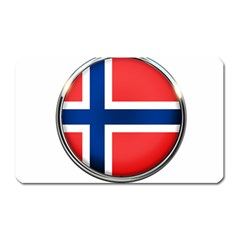 Norway Country Nation Blue Symbol Magnet (rectangular) by Nexatart