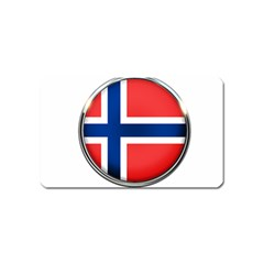 Norway Country Nation Blue Symbol Magnet (name Card) by Nexatart