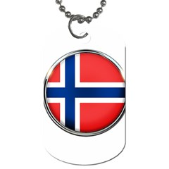 Norway Country Nation Blue Symbol Dog Tag (one Side)