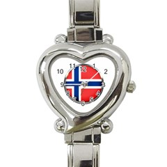 Norway Country Nation Blue Symbol Heart Italian Charm Watch
