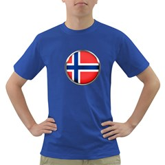 Norway Country Nation Blue Symbol Dark T Shirt