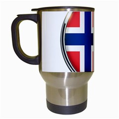 Norway Country Nation Blue Symbol Travel Mugs (white)