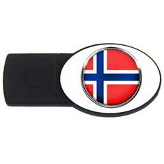 Norway Country Nation Blue Symbol Usb Flash Drive Oval (4 Gb)