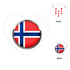 Norway Country Nation Blue Symbol Playing Cards (heart)