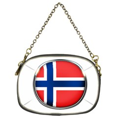 Norway Country Nation Blue Symbol Chain Purses (two Sides)