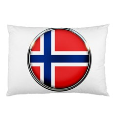 Norway Country Nation Blue Symbol Pillow Case